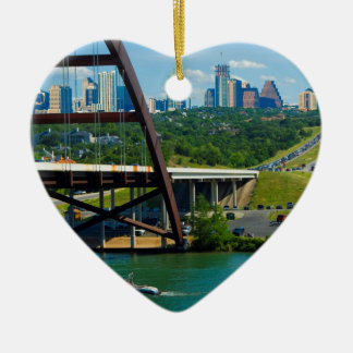 Austin, Texas from 360 Bridge Christmas Ornament