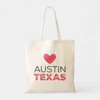 Austin Texas Heart Tote