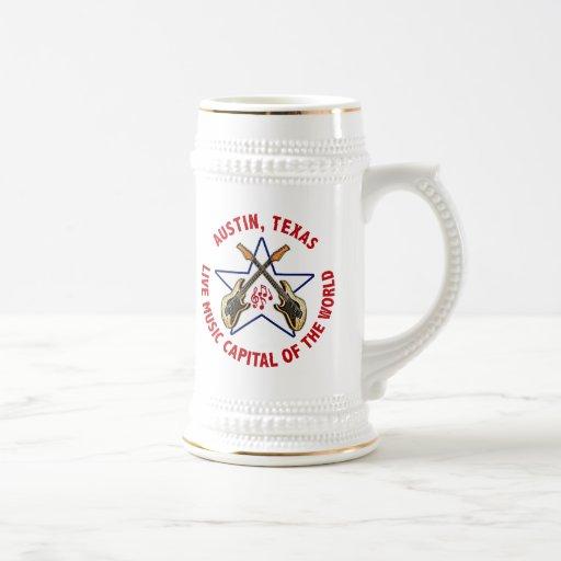 Austin, Texas Live Music Capital of the World Mug