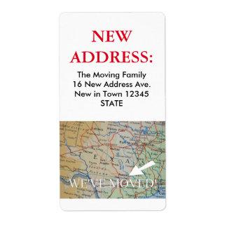 Austin, Texas New Address Label