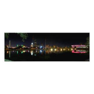 Austin Texas Night Skyline 1 Photograph
