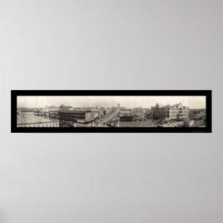 Austin, Texas Panorama Photo 1910 Poster
