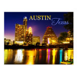 Austin, Texas Skyline at Night Post Cards