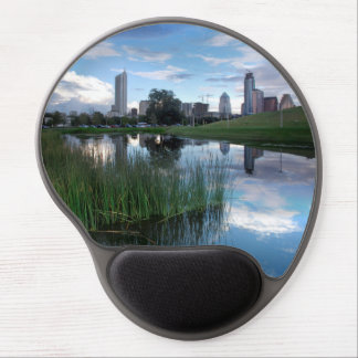Austin Texas Skyline Reflected 2 Gel Mouse Mats