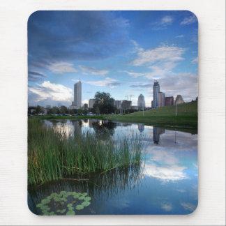 Austin Texas Skyline Reflected 2 Mouse Pad