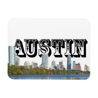 Austin Texas Skyline w/ Austin in the Sky Magnet