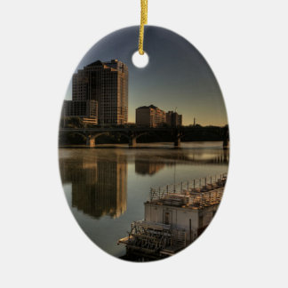 Austin Texas Sunrise Sunset Customize Christmas Ornament