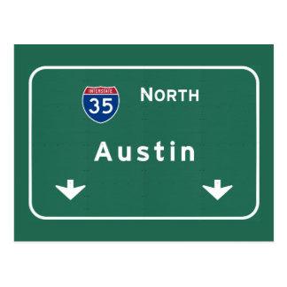 Austin Texas tx Interstate Highway Freeway Road : Postcard