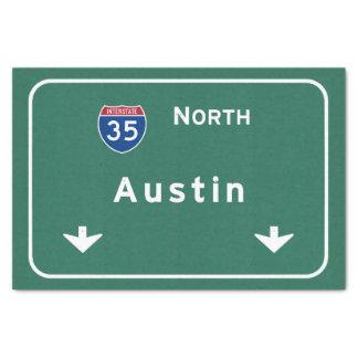 Austin Texas tx Interstate Highway Freeway Road : Tissue Paper