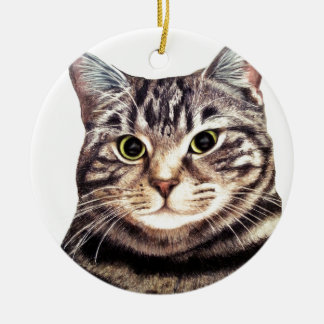 Austin The Bengal Cat Round Ceramic Decoration