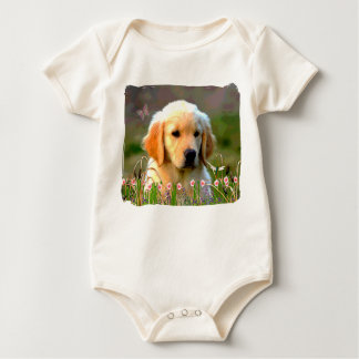 Austin The Golden Labrador Baby Bodysuit