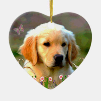 Austin The Golden Labrador Christmas Ornament