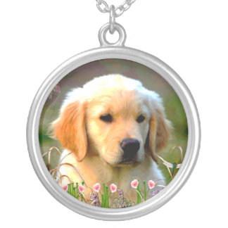 Austin The Golden Labrador Silver Plated Necklace