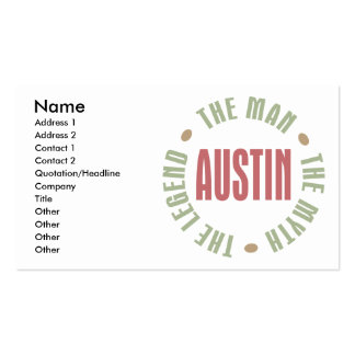 Austin the Man the Myth the Legend Pack Of Standard Business Cards