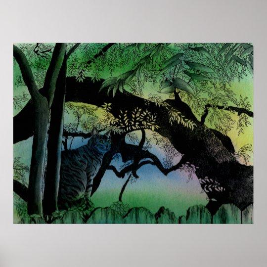 Austin Tree Cat Poster