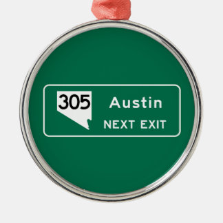 Austin, TX Road Sign Christmas Ornament
