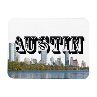 Austin TX Skyline with Austin in the Sky Magnet