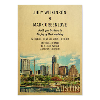 Austin Wedding Invitation Texas