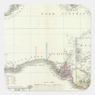 Austral-Continent Square Sticker