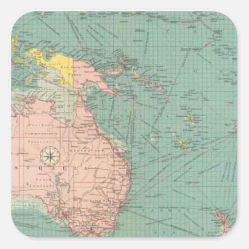 Australasian, Polynesian ports Square Sticker