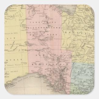 Australia 3 square sticker