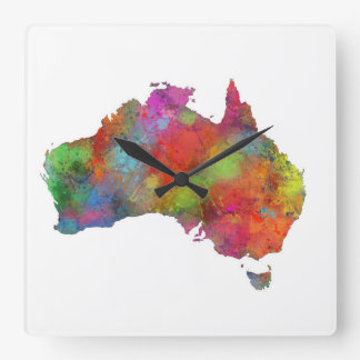 AUSTRALIA 4 SQUARE WALL CLOCK