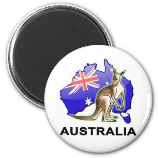 Australia 6 Cm Round Magnet