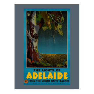 Australia Adelaide Restored Vintage Travel Poster Postcard