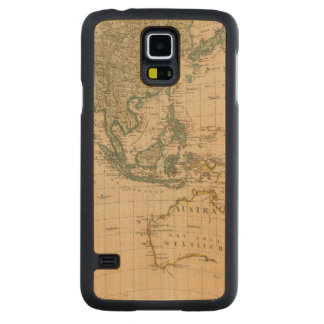 Australia and Asia Carved Maple Galaxy S5 Case