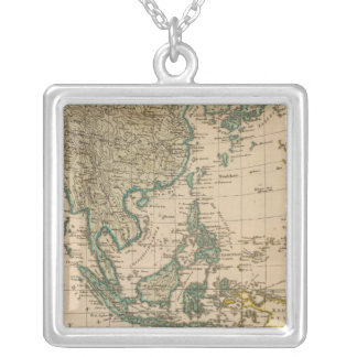 Australia and Asia Silver Plated Necklace