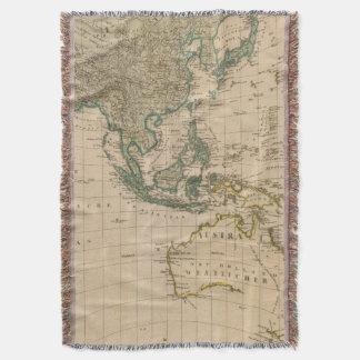 Australia and Asia Throw Blanket