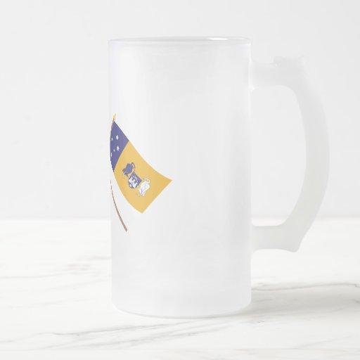 Australia and Capital Territory Crossed Flags Coffee Mug