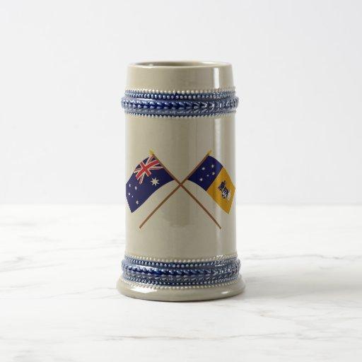 Australia and Capital Territory Crossed Flags Mug