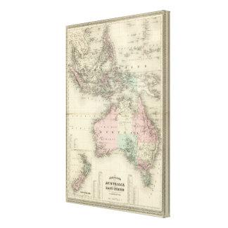 Australia and East Indies Canvas Print