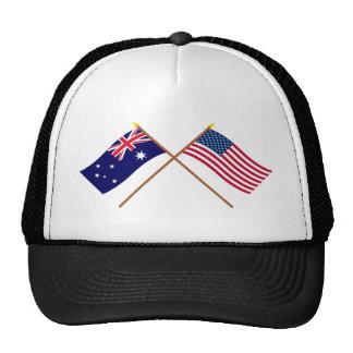 Australia and United States Crossed Flags Cap