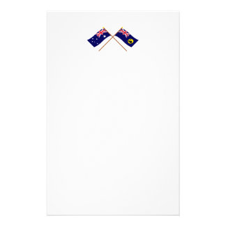 Australia and Western Australia Crossed Flags Stationery
