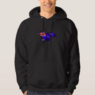Australia Australian wavy flag hoodie