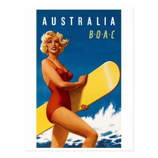 Australia - BOAC Postcards