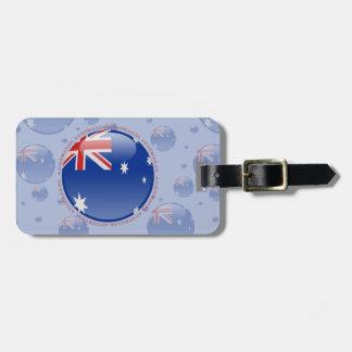 Australia Bubble Flag Tags For Luggage