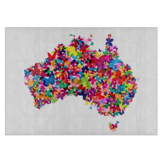 Australia Butterfly Map Cutting Board