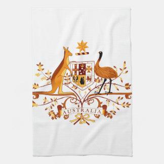 Australia COA Brown Tea Towel