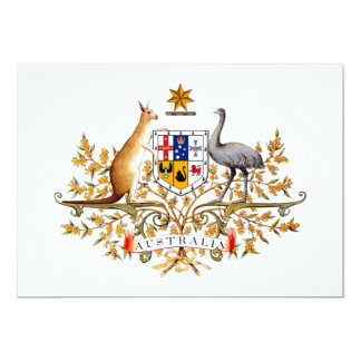 Australia Coat of Arms 13 Cm X 18 Cm Invitation Card