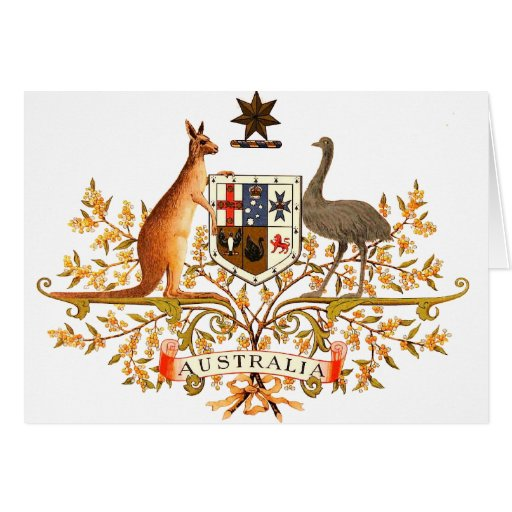 australia coat of arms cards