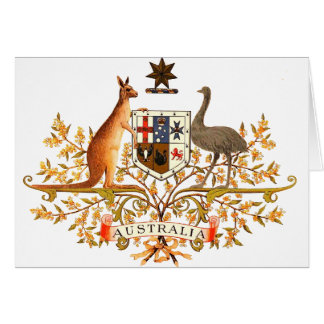 australia coat of arms cards