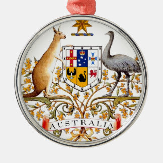 Australia coat of arms christmas ornament