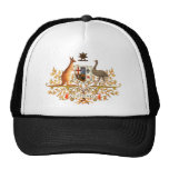australia coat of arms mesh hats