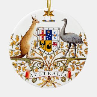 Australia coat of arms round ceramic decoration