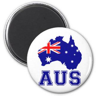 Australia Continent 6 Cm Round Magnet