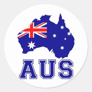 Australia Continent Round Sticker