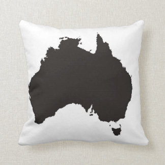 australia country black map shape cushion